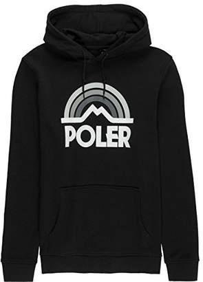Poler Unisex-Adults Mountain Rainbow Hooded Pullover Sweatshirt-Blk-m