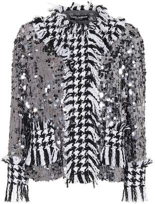 Dolce & Gabbana Sequined houndstooth jacket