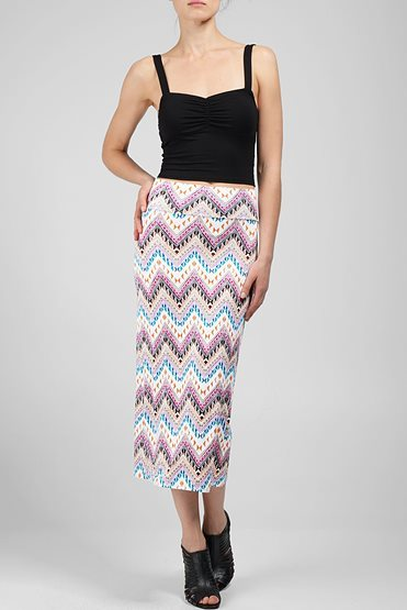 Rachel Pally High Waisted Covertible Skirt/Dress Print