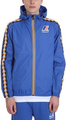 K-Way K Way Kappa X Collaboration Jacket In Blue Nylon