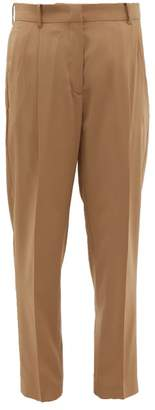No.21 No. 21 - Pleated Wool Tapered Leg Trousers - Womens - Beige