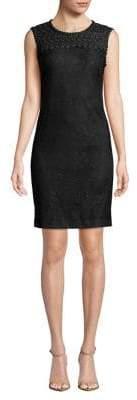 Karl Lagerfeld Paris Lace Cotton Sheath Dress