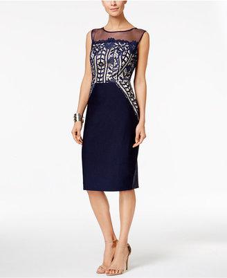 Jax Cap-Sleeve Illusion Lace Sheath Dress $138 thestylecure.com
