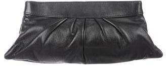 Lauren Merkin Leather Pleated Clutch