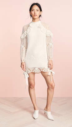 Self-Portrait Self Portrait High Neck Crochet Dress