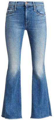 Mother Weekender High-Rise Fray Flare Jeans