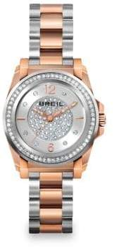 Breil Milano Manta Two-Tone Stainless Steel & Crystal Bracelet Watch