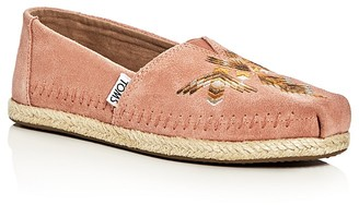 Toms Women's Alpargata Embroidered Moccasin Espadrille Flats