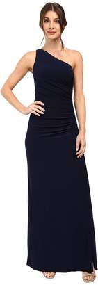 Laundry by Shelli Segal One Shoulder Sleeveless Gown w/ Side Sequins Women's Dress