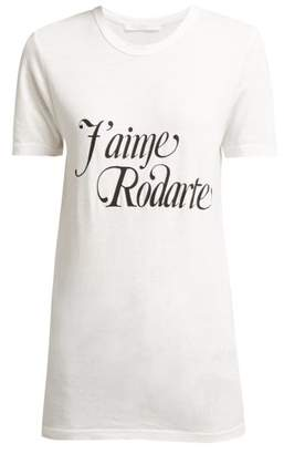 Rodarte J'aime Printed T Shirt - Womens - White Black