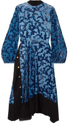 Tory Burch Leah Floral-print Devoré-chiffon Midi Dress
