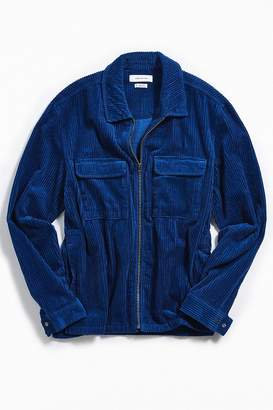 Urban Outfitters Ryder Corduroy Zip-Up Shirt
