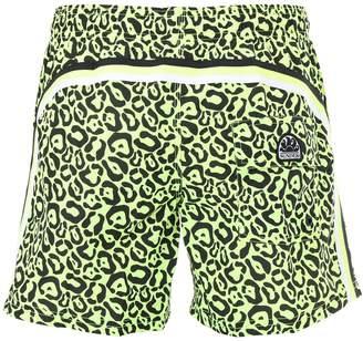 Sundek Leopard Print Nylon Swim Shorts