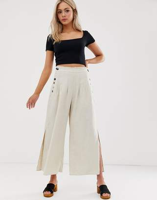 840c9beab953 Wide Leg Side Split Trousers - ShopStyle UK