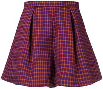 L'Autre Chose high-waisted checked shorts