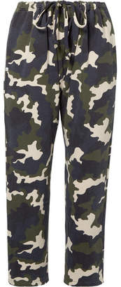 The Upside Rafiki Camouflage-print Cotton-terry Track Pants - Army green