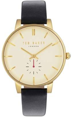 Ted Baker Olivia Round Leather Strap Watch, 40mm