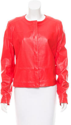 Rachel Roy Perforated Leather Jacket $195 thestylecure.com