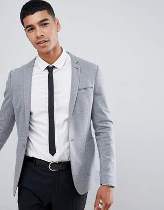 Asos Design DESIGN super skinny blazer in grey jersey