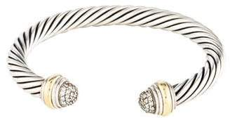David Yurman Diamond Cable Classics Cuff