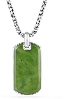 David Yurman Exotic Stone Tag in Nephrite Jade