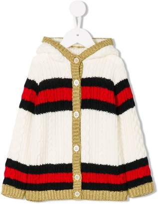 Gucci Kids striped cardigan