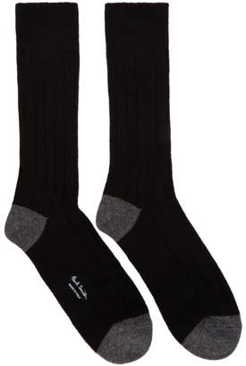 Paul Smith Black Wool and Cashmere Socks