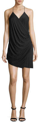 Haute Hippie Sidewinder Cowl Jersey Mini Dress