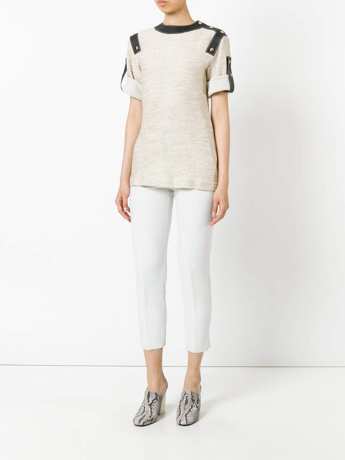 Loewe buttoned straps detail T-shirt