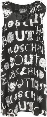 Moschino A-line Logo Print Dress