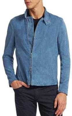 Emporio Armani Suede Asymmetric Zip Jacket