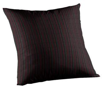 """ONLINE Patch Magic Black With Tan Gold Stripes Fabric Toss Pillow 16""""X 16"""""""