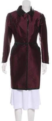 Dolce & Gabbana Knee-Length Silk-Blend Coat