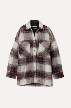 IRO Minksy Oversized Checked Felt Jacket - Ecru