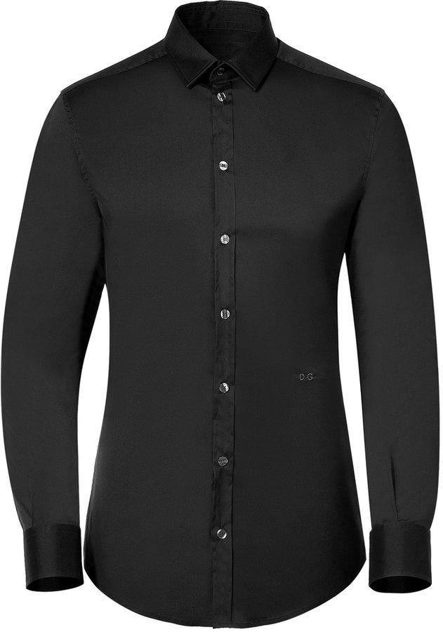 D&G Dolce & Gabbana Black Classic Shirt