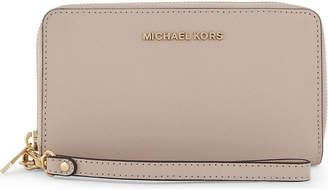MICHAEL Michael Kors Jet set travel large leather phone wallet, Soft pink