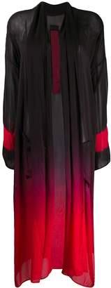 Masnada gradient dyed silk coat