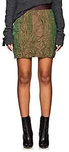 Officine Generale Women's Flora Wrinkled Twill Miniskirt - Olive