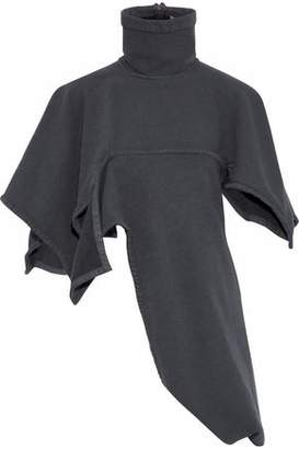 J.W.Anderson Asymmetric Cotton-Blend Fleece Turtleneck Sweater