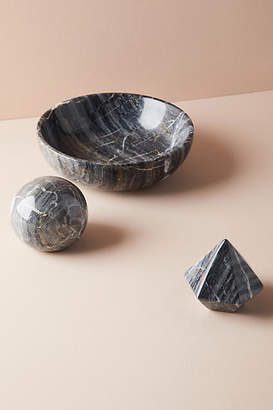 Anthropologie Black Marble Decorative Object
