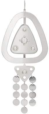 Maison Margiela Women's Oversized Double-Drop Earring - Silver