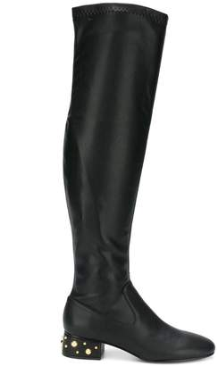 See by Chloe studded heel over-the-knee boots