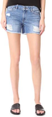 DL1961 Karlie Boyfriend Shorts $128 thestylecure.com