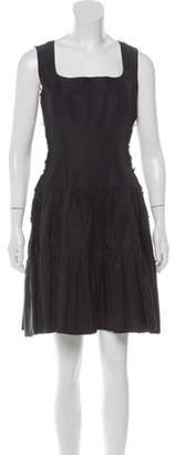 Chanel Sleeveless Mini Dress Black Sleeveless Mini Dress