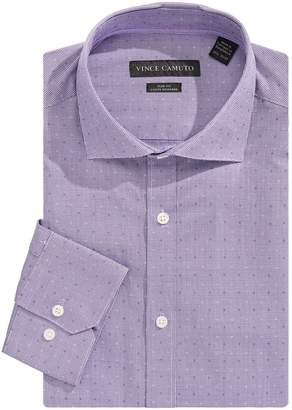 Vince Camuto Periwinkle Dobby Slim Fit Dress Shirt