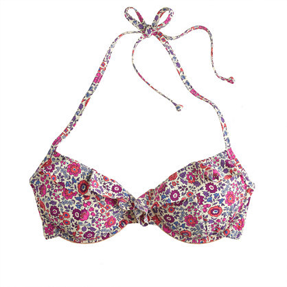 J.Crew Liberty underwire top in D'Anjo floral
