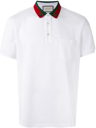 Gucci bug collar polo shirt $580 thestylecure.com
