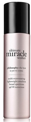 Philosophy 'Ultimate Miracle Worker' Multi-Rejuvenating Lightweight Emulsion Broad Spectrum Spf 30 Sunscreen $52.50 thestylecure.com