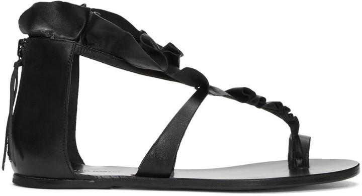 Isabel Marant Black Audry Ruffle Sandals