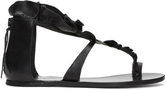 Isabel Marant Black Audry Ruffle Sandals $645 thestylecure.com